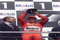 Rubens Barrichello auf dem Podium