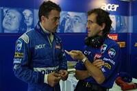 Jean Alesi und Alain Prost im Gespräch