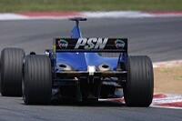 Der Bolide AP04 des Prost-Teams aus der Heckansicht
