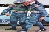 Giancarlo Fisichella und Jenson Button