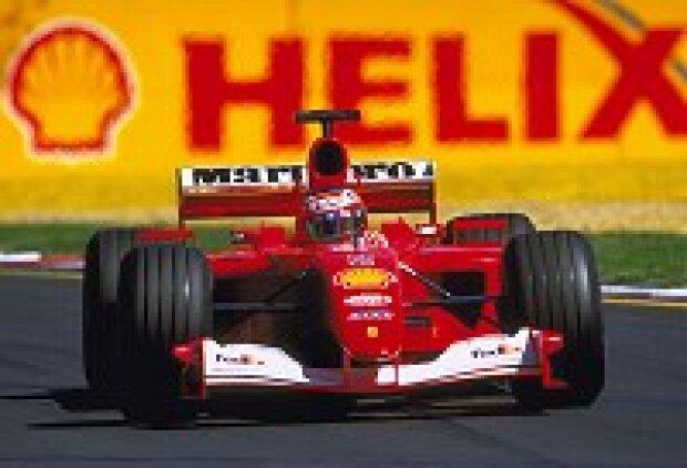 Rubens Barrichello im F2001 während des Freien Trainings in Australien