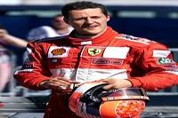 Michael Schumacher mit seinem Helm