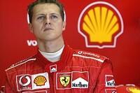 Michael Schumacher in der Garage