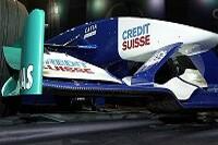 Die markante Frontpartie des Sauber C21