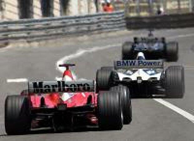 Schumacher, Montoya, Coulthard