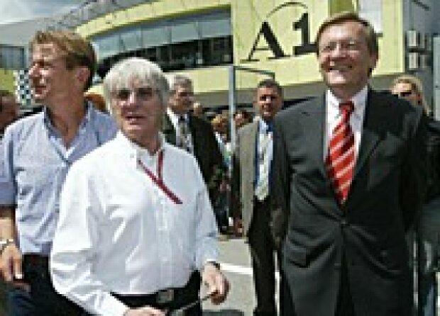 Ecclestone und Bundeskanzler Schüssel
