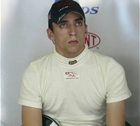 Justin Wilson in der Jaguar-Box