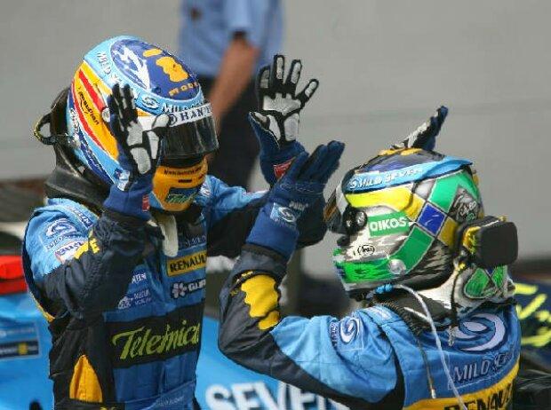 Fernando Alonso und Giancarlo Fisichella