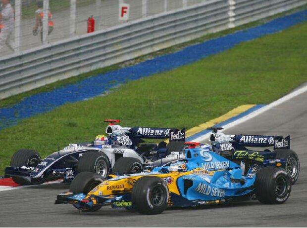 Mark Webber, Fernando Alonso und Nico Rosberg