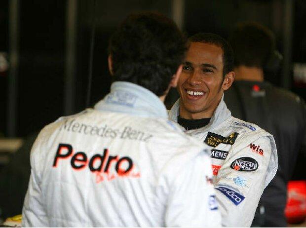 Pedro de la Rosa und Lewis Hamilton