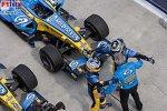 Fernando Alonso (Renault), Flavio Briatore (Teamchef) (Renault), Giancarlo Fisichella (Renault)