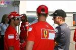 Felipe Massa (Ferrari), Kimi Räikkönen (McLaren-Mercedes), Michael Schumacher (Ferrari)