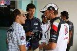 Christian Klien (Red Bull Racing), Jenson Button (Honda Racing F1 Team), Mark Webber (Williams-Cosworth)