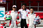 Aguri Suzuki (Teamchef) (Super Aguri F1 Team), Sakon Yamamoto (Super Aguri F1 Team), Takuma Sato (Super Aguri F1 Team)