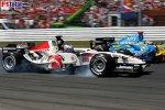 Fernando Alonso (Renault), Jenson Button (Honda Racing F1 Team)