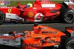 Christijan Albers (MF1 Racing), Felipe Massa (Ferrari)