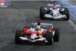Ralf Schumacher (Toyota), Robert Kubica (BMW Sauber F1 Team)