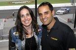 Montoya mit California Speedway-Präsidentin Gillian Zucker