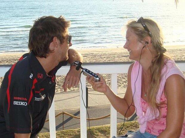 Jenson Button und Inga Stracke