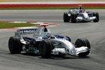 Nick Heidfeld vor Robert Kubica (BMW Sauber F1 Team)