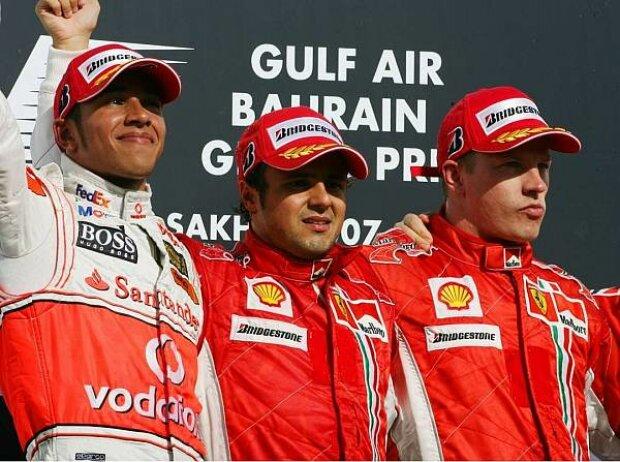 Podium in Bahrain 2007