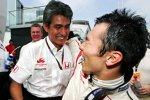 Aguri Suzuki (Teamchef) und Takuma Sato (Super Aguri)