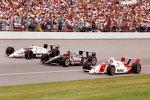 Prominente erste Reihe 1991: Rick Mears, A.J. Foyt und Mario Andretti (von innen nach aussen)