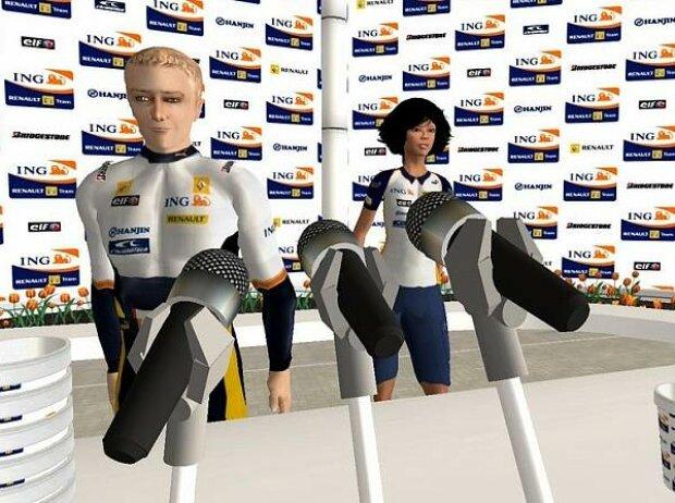 Heikki Kovalainen in Second Life