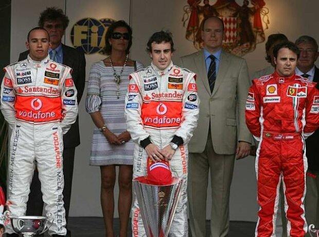 Podium in Monaco 2007