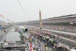 Der Regen setzte nach knapp 100 Runden ein