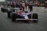 Marco Andretti (Andretti Green) bei der Rennunterbrechung