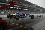 Marco Andretti (Andretti Green) verunfallte noch kurz vor dem Abbruch