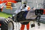Das Wrack von Robert Kubica (BMW Sauber F1 Team)