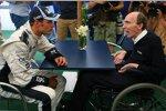 Alexander Wurz und Frank Williams (Teamchef) (Williams)