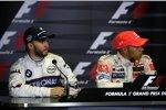 Nick Heidfeld (BMW Sauber F1 Team) und Lewis Hamilton (McLaren-Mercedes)