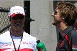 Ralf Schumacher (Toyota) und Jenson Button (Honda F1 Team)