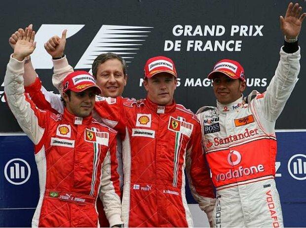 Podium in Frankreich 2007