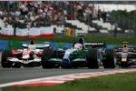 Rubens Barrichello (Honda F1 Team) und Ralf Schumacher (Toyota)