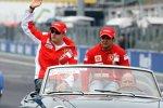 Kimi Räikkönen und Felipe Massa (Ferrari)