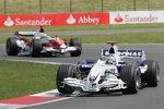 Nick Heidfeld (BMW Sauber F1 Team) vor Ralf Schumacher (Toyota)