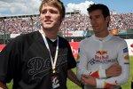 Sänger Brian McFadden (Ex-Westlife) und Mark Webber (Red Bull)