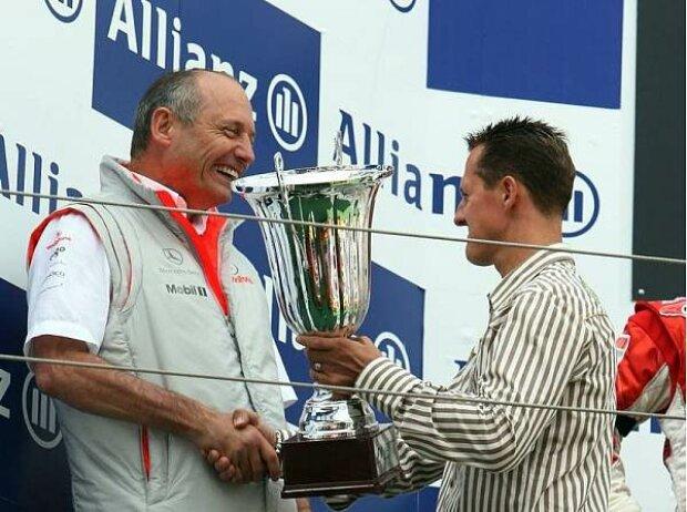 Ron Dennis und Michael Schumacher