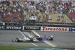 Tony Kanaan gewinnt vor  Marco Andretti beide Andretti Green