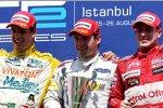 Alexandre Negrao (Minardi-Piquet), Timo Glock (iSport) und Adam Carroll (FMS)