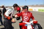 Dario Franchitti (Andretti Green) scherzt mit Scott Dixon (Ganassi)