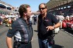 Christian Horner (Teamchef) (Red Bull) und Gerhard Berger (Teamanteilseigner) (Toro Rosso)