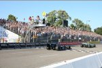 Zieldurchfahrt hinter dem Safety-Car: Tony Kanaan vor Danica Patrick