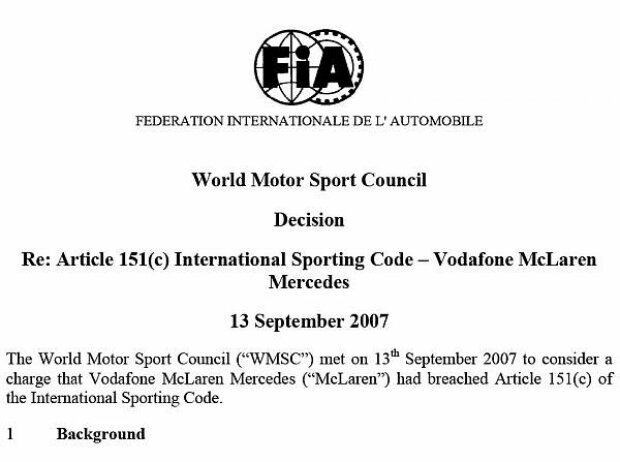 FIA-Urteil