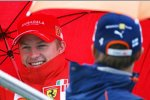 Kimi Räikkönen (Ferrari) und Heikki Kovalainen (Renault)