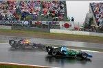 Jenson Button (Honda F1 Team) vor Mark Webber (Red Bull)